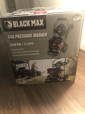 black max 3100 psi gas pressure washer, 212cc ohv engine for Sale in Stamford, CT