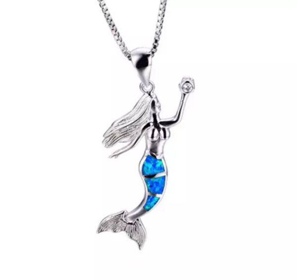 Sterling Silver Marked 925 Mermaid Necklace