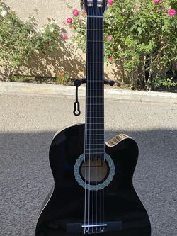 black fever classic acoustic guitar for Sale in Bell,  CA