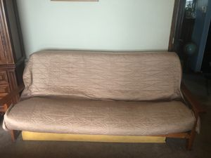 Wooden framed futon couch for Sale in Puyallup, WA