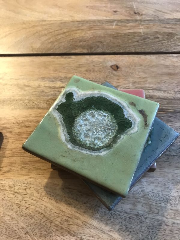Anthropologie ceramic coasters