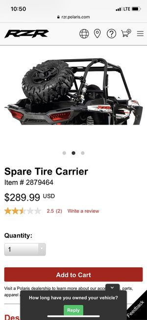 Polaris RZR Spare Tire Carrier New (Unboxed) for Sale in Encinal, TX