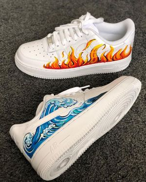 Fire + Water Customs Air Force 1 Customs | Vans Art for Sale in Ontario, CA