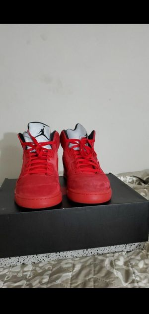 Jordan 5 retro Red suede for Sale in Columbia, SC