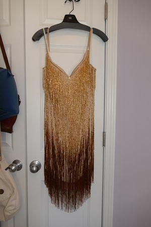 Gold fringe sparkly dress for Sale in Cumming, GA