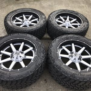 22 INCH FUEL WHEELS AND TIRES, 6 Lug Universal for Sale in Auburn, WA