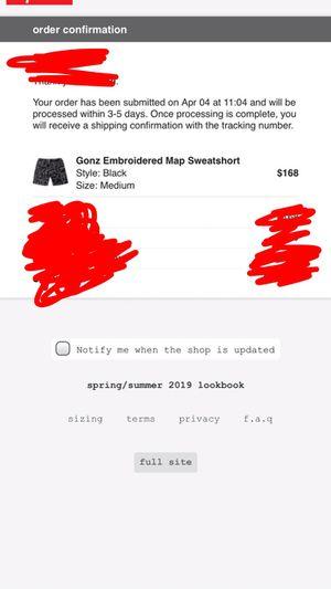 Black supreme sweat shorts released 4/4/19 for Sale in Derby, KS