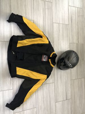 FirstGear motorcycle jacket and HJC helmet for Sale in Las Vegas, NV