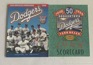 LA Dodgers Dodgertown 50th Anniversary Program & Scorecard '98 SpringTraining for Sale in Ocoee, FL