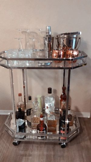Chrome Serving/Bar Cart for Sale in San Ramon, CA