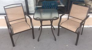 New 3pc Outdoor Bistro Set, Tan for Sale in Columbia, SC