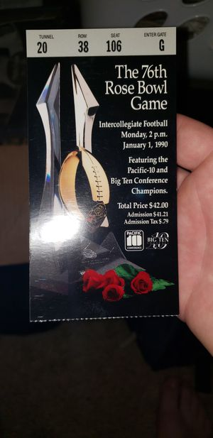 Rose bowl ticket 1990 for Sale in Placentia, CA