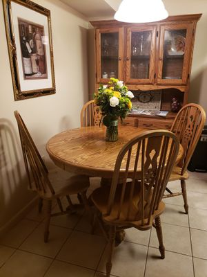 table set with chairs 48 with x 28 height for Sale for sale  Trenton, NJ