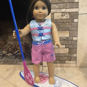 Used American girl doll paddle board with life vest. for Sale in Laguna Hills, CA