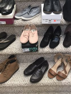 11 Pairs Of Womens Boots Shoes Heels Resellers Bundle Converse Forever 21 Roxy for Sale in Las Vegas,  NV