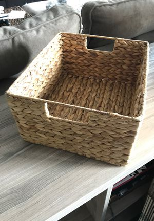 Banana Leaf Basket Decorative Storage Container for Sale in Denver, CO