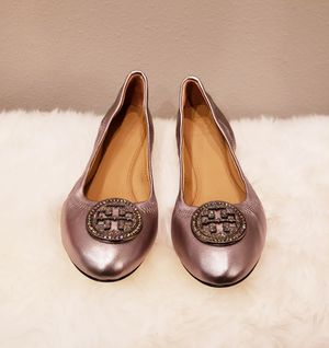 NEW Tory Burch Liana Leather Ballet Flats Shoes GUNMETAL 8.5 US for Sale in Everett, WA