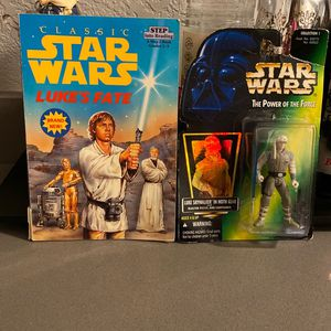 Vintage 1996 Star Wars Luke Skywalker in hoth Gear And step into reading Book for Sale in Phoenix, AZ