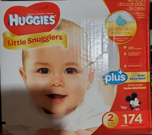 HUGGIES Little snugglers # 2 174 diapers for Sale in Lynn, MA