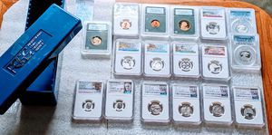 Silver &More- HUGE 16 pc Graded Coin Collection!! +PCGS Slab holder *NEW AWESOME LOW PRICE!! for Sale in Dalton, MA