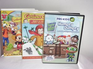 Lot (3) Super Why, Curious George, Mickey Mouse Clubhouse Like New for Sale in Beaumont, TX