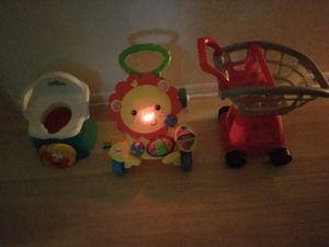 Child Sesame Street Training Seat, Lighted Lion Push Walker,HEB Cart for Sale in San Antonio, TX