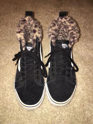 Vans Sk8-Hi Platform - VN0A3TKOUQG - Black / Leopard Fur - Women's 6.5 Men's 5.0 for Sale in Spanaway, WA