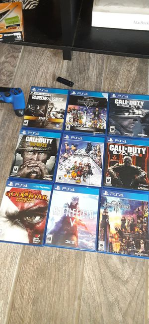 Playstation 4 games and controller, heated massage car seat and amazon echo fabriq for Sale in Chicago Ridge, IL
