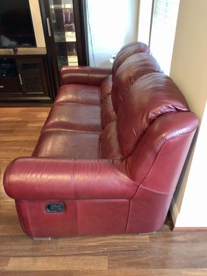 Two 3-seat Italian leather recliner sofas for Sale in Rockville, MD