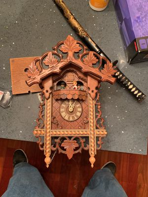 Antique handmade in Germany clock for Sale in Denver, CO