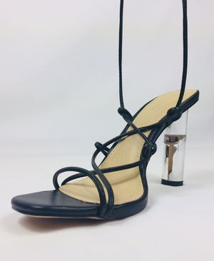 Nasty Gal | Lace Up | Lucite Heel Sandals for Sale in Forestville, MD