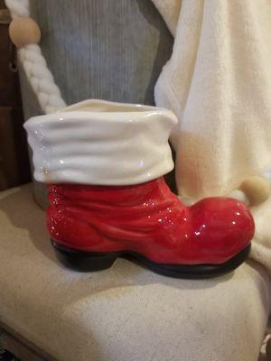 Ceramic santa boot $10 for Sale in Marysville, WA