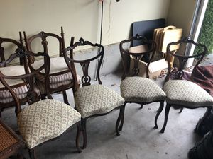 European Antique Mahogany dining chairs for Sale in Burlington, WA