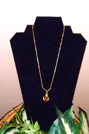 Garnet Pendant Necklace for Sale in McKees Rocks, PA