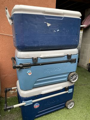 Igloo coolers 100-110 quarts for Sale in Compton, CA