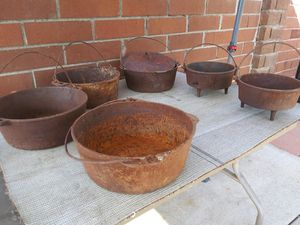 Old iron cooking pots for Sale in Whittier, CA