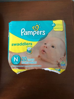 Pampers Swaddlers size Newborn for Sale in Tempe, AZ