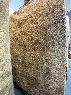 5x8 solid light brown thick shaggy rug non shedding non slide high density shaggy carpet. for Sale in Los Angeles, CA