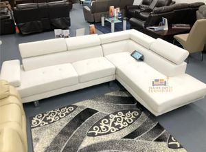 Brand new white faux leather sectional sofa for Sale in Silver Spring, MD