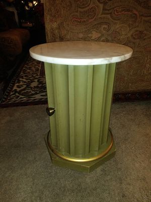 Beautiful small marble topped end table with storage for Sale in Thornton, CO