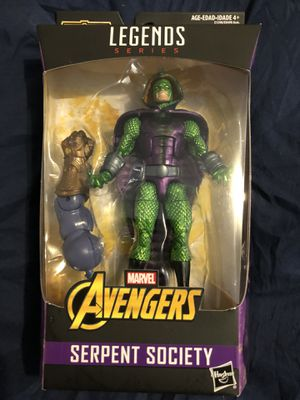 Serpent society 6 inch marvel legends action figures avengers infinity war collectible. Thanos build a figure piece for Sale in Queens, NY