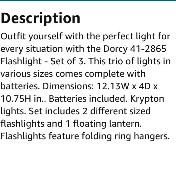 Flashlights: Dorcy 41-2865 Flashlight - Set of 3 for Sale in Easley, SC -  OfferUp