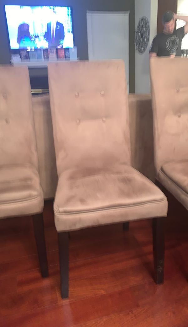 4 suede dining room chairs