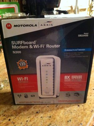 New Modem & wi fi router for Sale in BVL, FL