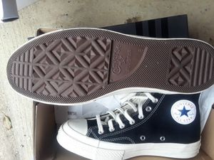 Converse play comme des garcons for Sale in Gaithersburg, MD