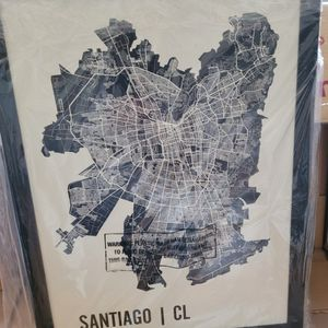 Picture/Map/Diagram Of Santiago Chile for Sale in Bethlehem, CT