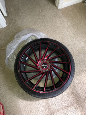 20 inch rims with tires for Sale in Zephyrhills, FL