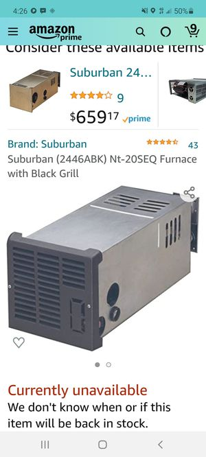 Suburban RV furnace for Sale in Raymond, WA