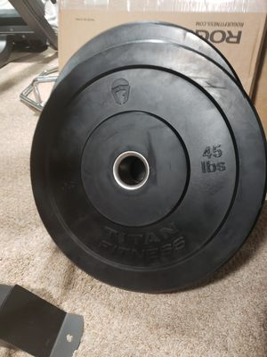 Weights bumper plates for Sale in Ontario, CA