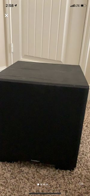 "Paradigm 900 watt Monitor 12"" Subwoofer built in amplifier for Sale in Lubbock, TX"